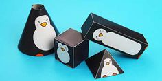 Make your very own paper penguins with these step by step instructions. Wouldn't it be cool to celebrate World Penguin Day with your very own penguins? Penguin Day, Penguin Craft, Where Do Penguins Live, Cut Out Pictures, Triangular Prism, Math Projects, Shape Crafts, Architecture Tattoo, Funny Tattoos