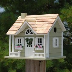 Home Bazaar Home Sweet Home Bird Cottage, Sage at BestNest.com