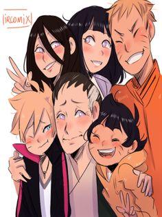 Anime Naruto, Naruto Fan Art, Naruto Comic, Naruto And Hinata, Naruto Cute, Naruto Shippuden Anime, Anime Chibi, Otaku Anime, Boruto And Sarada