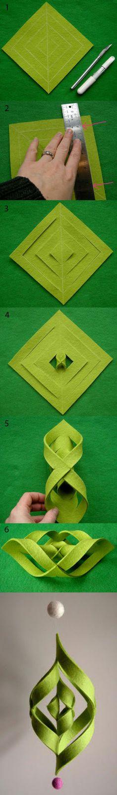 美麗簡單的不織布吊飾製作教程