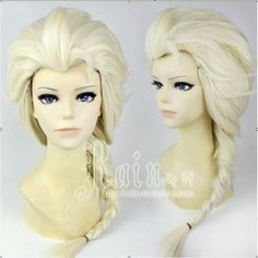 Online Shop In Stock New Movies Frozen Snow Queen Elsa White Weaving Braid Cosplay Wig 70cm Cheap Synthetic Hair Wigs|Aliexpress Mobile