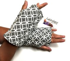 Wrist and hand heat wrap, Flax, Carpal tunnel relief, wrist and Hand flax heating glove for arthritis relief, Typing, craft and knit relief