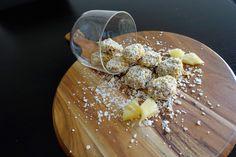 Pina Colada bites Pina Colada, Kitchen, Cooking, Home Kitchens, Kitchens, Cucina, Cuisine, Room Kitchen