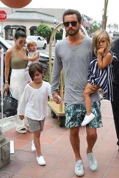 Reunited: Scott and Kourtney, who split last summer after nine years together, have continued to co-parent their three children Reign, Mason and Penelope