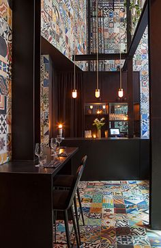 Lars Larsen (KILO) & Jakob Lange (BIG), Interior design Restaurant Llama, Copenhagen