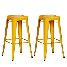 Joveco 30 Inches Sheet Metal Frame Tolix Style Industrial Chic Chair Backless Bar Stool - Set of 2 (White) Wholesale Price Available Buy Bar Stools, Bar Stools With Backs, Counter Height Bar Stools, Cool Bar Stools, Metal Bar Stools, Modern Bar Stools, Swivel Bar Stools, Bar Counter, Top Table Ideas