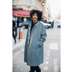 See some of our favorite looks spotted by Jonathan Daniel Pryce on the streets of Paris during this season's Menswear shows.