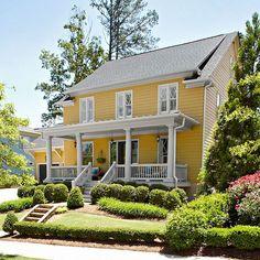 Love yellow houses!