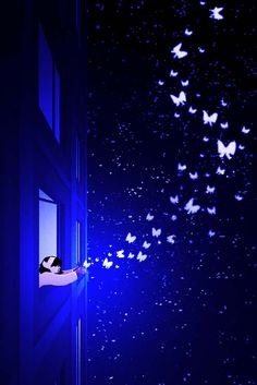 Image about art in Good Night ✨ by Miss__Flower Cute Wallpaper Backgrounds, Pretty Wallpapers, Nature Wallpaper, Butterfly Wallpaper, Galaxy Wallpaper, Lovely Girl Image, Beautiful Fantasy Art, Anime Scenery, Moon Art