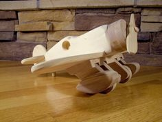 Handmade Wooden Farm Tractor and Wagon Toy Wooden Airplane, Airplane Toys, Airplanes, Wooden Cribs, Wooden Car, Woodworking Toys, Woodworking Projects, Handmade Toys, Handmade Wooden
