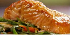 Mango-Glazed Salmon And Spinach Salad Recipe..