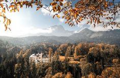 Naturhotel Schloss Kassegg   Gesäuse Photo @stefanleitner Autumn Scenery, Das Hotel, Austria, Mountains, Nature, Travel, Landscape, Viajes, Fall Landscape
