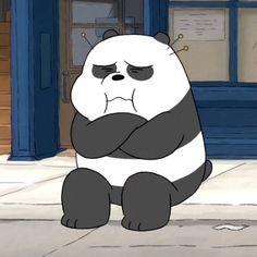 Panda boudeur