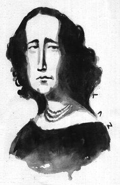 Gertrudis Gómez de Avellaneda, por LAZ