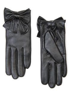 $50 MANGO - Bow leather gloves