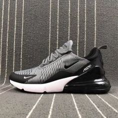 sale retailer b1b46 de69c Latest style Nike Air Max 270 Flyknit Grey Black Men s Training Basketball  Shoes Cheap Nike Running