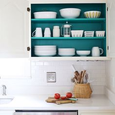 #paint the inside of your #cabinets for a fresh look
