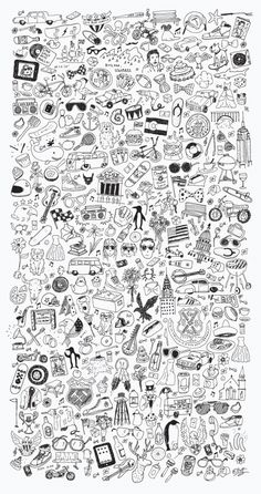 Doodles by Elliott Burford. This creative pattern served as the graphic style for a Brooklyn-based non-profit organization dedicated to helping local underprivileged youth. Math Wallpaper, Glitch Wallpaper, Dark Wallpaper Iphone, Graffiti Wallpaper, Wallpaper Space, Painting Wallpaper, Original Wallpaper, Cellphone Wallpaper, Galaxy Wallpaper