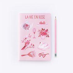 La Vie en Rose  Notebook by ArcherandOlive on Etsy