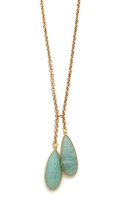 T. Kilburn Amazonite Teardrop Duet Necklace   selected by jamesdrygoods.com for the made in america: contemporary project   #madeinusa  
