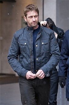 Gerard Butler sighted departing BBC Radio One on April 4, 2103 in London, England
