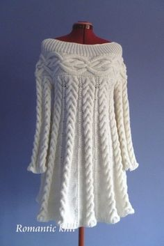 Discover thousands of images about Knitted Dress Hobbs Crochet Dress India Knitting Designs, Knitting Patterns Free, Knit Patterns, Dress Patterns, Free Pattern, Pattern Dress, Knitting Daily, Cable Knitting, Hand Knitting