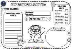 Reportes de lectura para imprimir GRATIS - Imagenes Educativas School Items, Classroom Activities, Vocabulary, Homeschool, Clip Art, Teaching, How To Plan, Education, Comics