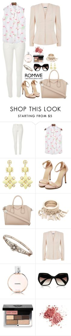 """""""Romwe 2"""" by amra-f ❤ liked on Polyvore featuring River Island, Givenchy, Alexander McQueen, Prada, Bobbi Brown Cosmetics, 1d, romwe, 5sos and beige"""