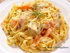 Manus Küchengeflüster: Pasta an Lachs-Sauce