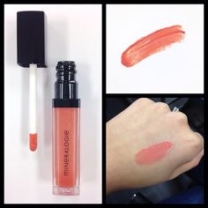 Product spotlight on Caribbean Coral lip gloss (new for spring 2015!) #lipgloss #makeup #mineralogie