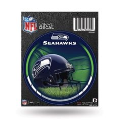 Seattle Seahawks Official NFL 4.5 inch Round Round Decal by Rico Industries, Multicolor