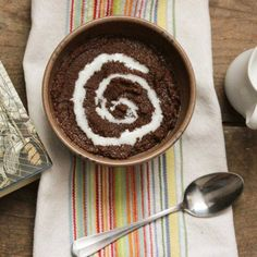 "Chocolate-Teff-Coconut Milk. A play on traditional Filipino Chocolate Rice Pudding or ""Champorado"", using Teff grains instead of rice."