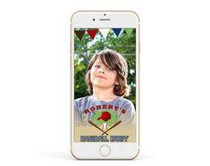 Baseball Snapchat 15th Birthday Geofilter. Sport Snapchat filter.  Baseball party Geofilter. Custom. Birthday Filter for boys Baseball Party, Snapchat Filters, 15th Birthday, Phone Cases, Sport, Iphone, Boys, Handmade Gifts, Sweet 15