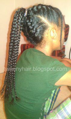 Tweeny Hair: French Braided Ponytail