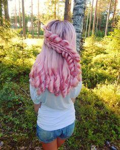Pink Hair - It's a Love Affair - Hair Styles Pretty Hairstyles, Braided Hairstyles, Pinterest Hair, How To Draw Hair, Mermaid Hair, Rainbow Hair, Love Hair, Hair Dos, Hair Designs