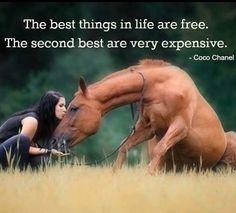 Cowgirls love horses
