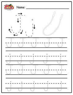 Free Printable Alphabet Worksheets, Letter Tracing Worksheets, Alphabet Tracing, Teaching The Alphabet, Learning Letters, Preschool Worksheets, Printables, Preschool Writing, Preschool Letters