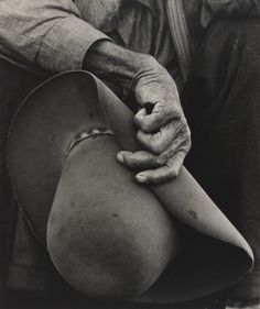 Dorothea Lange: Untitled (Worker's Hand and Hat), 1938