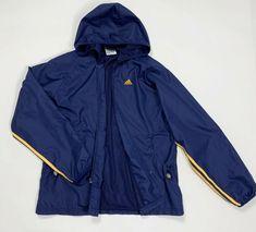 Adidas felpa tuta vintage usato L uomo blu giacca antivento jacket sport  T4807  adidas   d6897e03b29