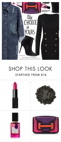 """Edgy Style"" by pokadoll ❤ liked on Polyvore featuring NARS Cosmetics, Urban Decay, Diana Vreeland Parfums, Pierre Hardy and Hedi Slimane"