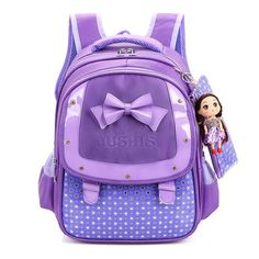 820cce55ba4 Adorable Girl s Fashion Butterfly Bowknot Durable Backpack w Free Doll 4  Colors