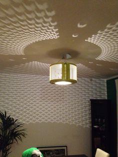 Wash machine drum ceiling lamp