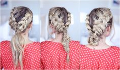 3-in-1 Double Dutch Braids| Build-able Hairstyle | Cute Girls Hairstyles