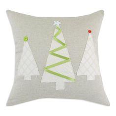 "17"" x 17"" Pillow with 3 Christmas Tree Design   Nebraska Furniture Mart"