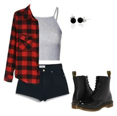 """Sans titre #900"" by stalialightwood ❤ liked on Polyvore featuring Glamorous, MANGO, Dr. Martens and Bling Jewelry"