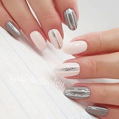 Elegant nails for you: TOP 21 Perfect inspirations for the perfect manicure New Years Nail Designs, Fall Nail Designs, Cute Nails, Pretty Nails, Hair And Nails, My Nails, Elegant Nails, Fabulous Nails, Beautiful Nail Art