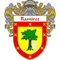 Ramirez Coat of Arms   http://spanishcoatofarms.com/ has a wide variety of products with your Hispanic surname with your coat of arms/family crest, flags and national symbols from Mexico, Peurto Rico, Cuba and many more available upon request.