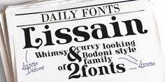 New free font 'Lissain' by Typesgal · Free for commercial use · #freefont #font #freefont