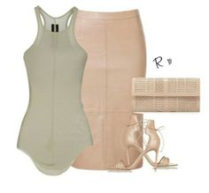 Styledbyrima / Top rickowens, Skirt Seed, Heels reedkrakoff, clutch BCBG