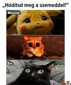 Vicces képek #humor #vicces #vicceskep #vicceskepek #humoros #vicc #humorosvideo #viccesoldal #poen #bikuci Cat Memes, Dankest Memes, Funny Memes, Deadpool Funny, Pokemon, Funny Spanish Memes, Kung Fu Panda, Cat Drawing, Cute Gif